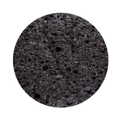 konjac spons zwart