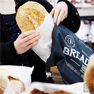 wasbare duurzame broodzak
