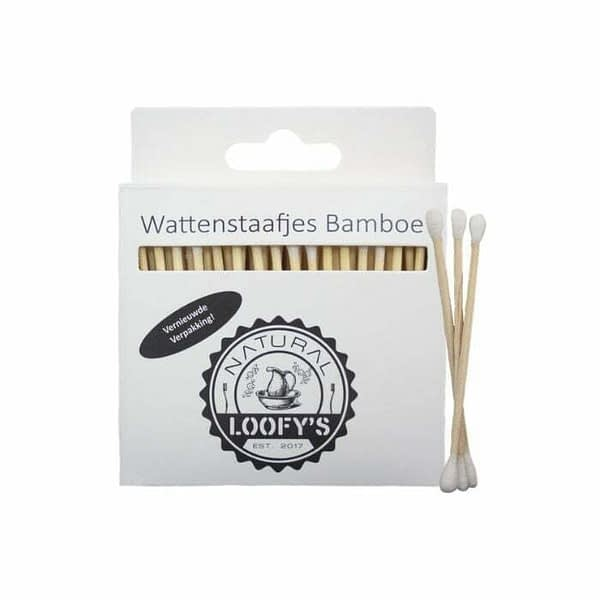 wattenstaafjes plasticvrij bamboe katoen